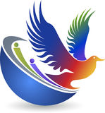 Peaceful world logo Stock Photography
