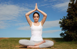 Peaceful yoga pose Royalty Free Stock Photos