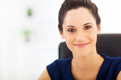 Peaceful young businesswoman. Closeup portrait Royalty Free Stock Images