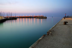 Peacefull dock. After the sunset Stock Image
