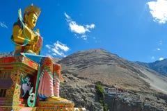 The peacefull god shakyamuni buddha royalty free stock images