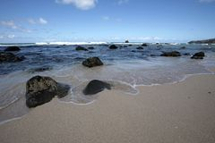 Peacefull hawaii  beach. With wide angle lens Stock Images