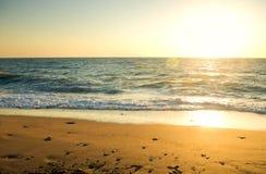 Peacefull ocean on sunset. Stock Photography