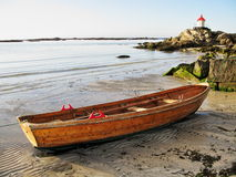 Peaceful sea landscape with a boat Stock Photography