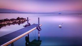 Peacefull sjö Fotografering för Bildbyråer