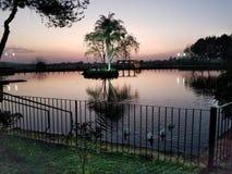 Peacefull Sonnenuntergang Stockfotos