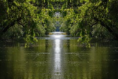 Peacefull water channel scene Royalty Free Stock Image