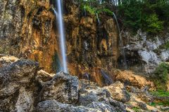 Peacefully flowing stream and waterfalls Stock Photography