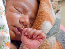 Peacefully sleeping baby Stock Photography