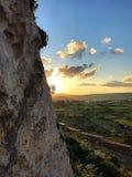Peacefulness :& x29;. Breathing view Malta Stock Image