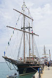 Peacemaker docked at Navy Pier. May be used to advertise for tall ships exhibit at Navy Pier Royalty Free Stock Photography