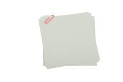 Peaces de papier avec le clip 5 images libres de droits