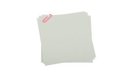 Peaces di carta con la clip 5 Immagini Stock Libere da Diritti