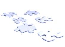 Peaces di puzzle Fotografia Stock Libera da Diritti