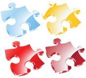Peaces di puzzle di vettore Fotografia Stock Libera da Diritti