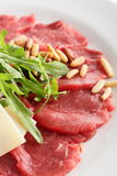 Peaces of meat with garnish Royalty Free Stock Photo