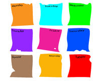 Peaces paper for diary or week info Royalty Free Stock Photography
