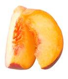 Peaces of peach stock photos