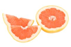 Peaces of red grapefruit Royalty Free Stock Photo