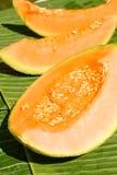 Peaces van meloen Stock Afbeeldingen