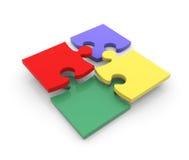 Peaces variopinti di puzzle Immagini Stock Libere da Diritti