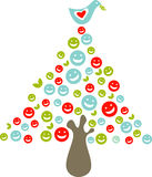PeaceTreeXmas Royalty Illustrazione gratis