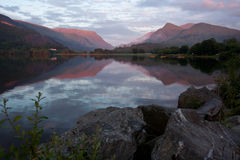 Peacful lake. Look into a clear and peacful water in Llanberis lake, Walse Royalty Free Stock Photography