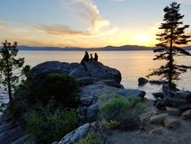 Peacful Sunset. Sunset over Lake Tahoe Stock Image