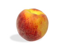 Peach 06. Juicy peach isolated on white (clipping path included Royalty Free Stock Photos