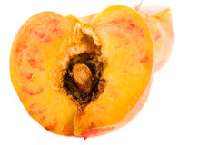 Peach. Isolated on the white background Stock Photography