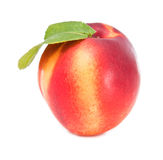 Peach. Beautiful peach on white background royalty free stock image
