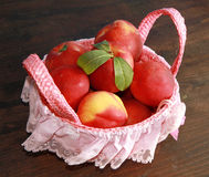 Peach. A basket  of some peach Stock Photography