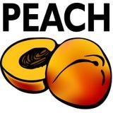 Peach. An image of a cut peach stock illustration