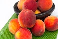 Peach. A lot of fresh peach Stock Images