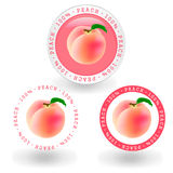 Peach. Frame no background illustration of pink peach Royalty Free Stock Image