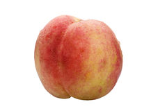 Peach. A peach on a white background isolation Royalty Free Stock Images