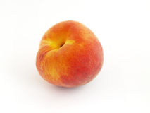 Peach. Isolated on white background Royalty Free Stock Photos