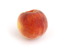 Peach. Isolated on white background Royalty Free Stock Photo