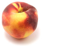 Peach. Isolated peach on white background royalty free stock image
