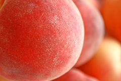 Peach. Close up of the juicy peach Royalty Free Stock Photography