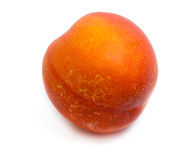 Peach. Isolated peach on white background stock images