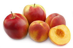 Peach and apple Royalty Free Stock Photography