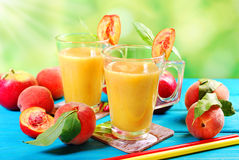 Peach and apple smoothie Royalty Free Stock Image