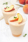 Peach and apple souffle stock photos