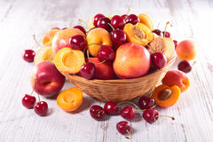 Peach,apricot and cherry Royalty Free Stock Photo