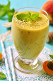 Peach and apricot smoothie. Royalty Free Stock Image
