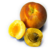 Peach and Apricots Mix 02. Peach and apricots Mix on white background Royalty Free Stock Images