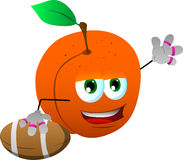 Peach as American football player Royalty Free Stock Images