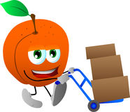 Peach as delivery man Stock Photo