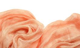 Peach background with drapery Stock Images